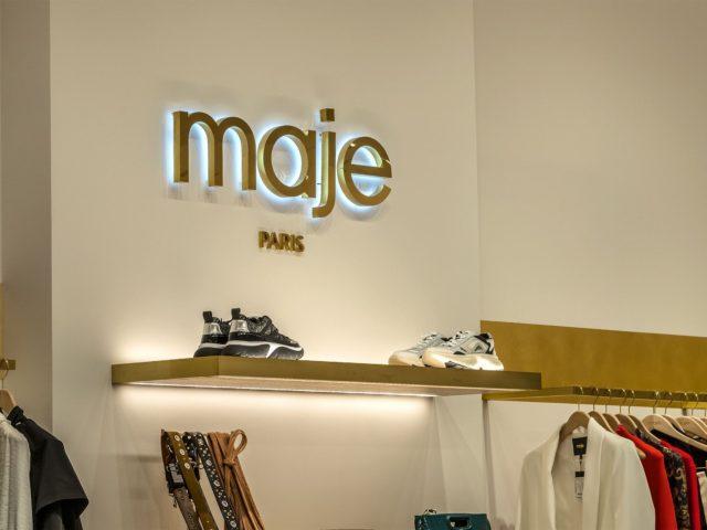 Интерьерные световые буквы «Maje», Москва