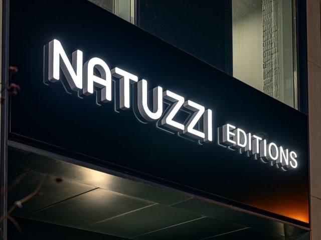 """Фасадная вывеска """"Natuzzi editions"""""""