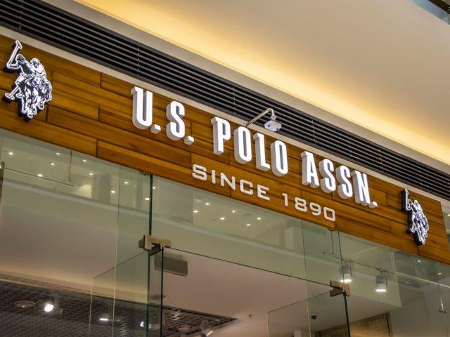Интерьерная вывеска «U. S. Polo Assn.» г.Москва