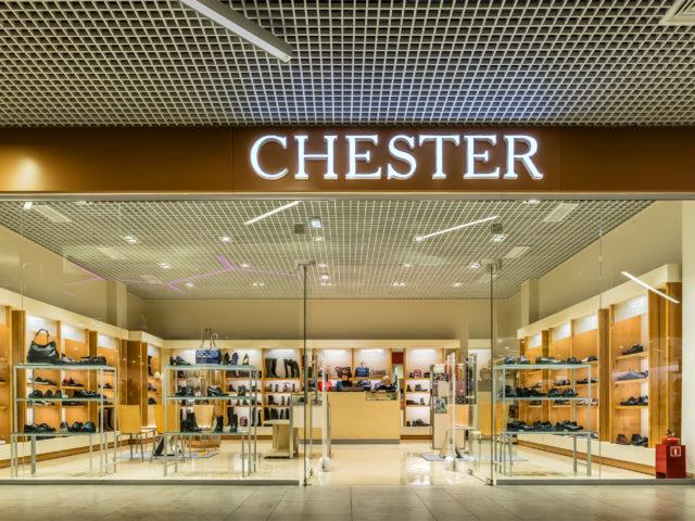 Интерьерная вывеска для бутика «Chester», г. Тула, ТЦ «Макси»