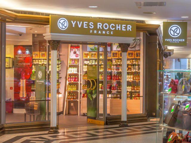Интерьерная вывеска магазина косметики «Ив Роше»