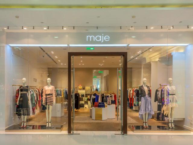 """Интерьерная вывеска для бутика """"Maje"""""""