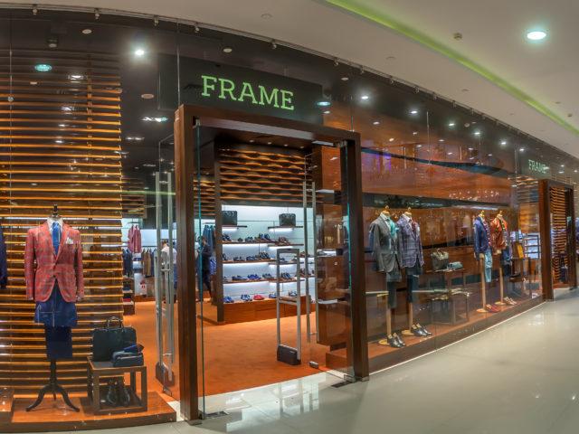 """Интерьерная вывеска для бутика """"Frame"""""""