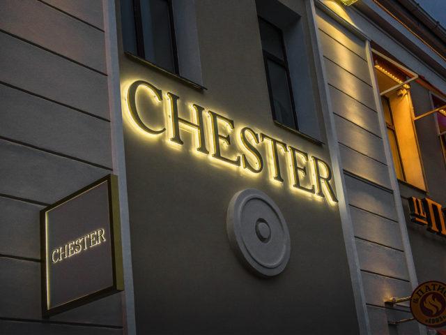 """Фасадная вывеска для магазина """"Chester"""" г.Москва, Таганка"""